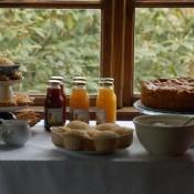 äppelkaka och sirapsvåfflar
